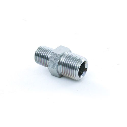 Aeroquip 2083 6 4S 3/8 Male x 1/4 Male Steel Hex Pipe Nipple