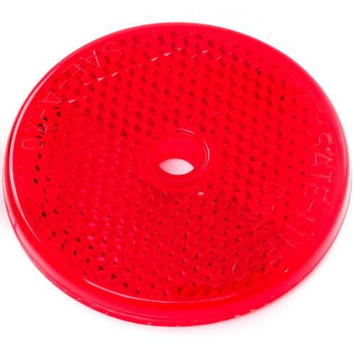 Grote 41012 Red Reflector - 2in Round Center Hole Mount