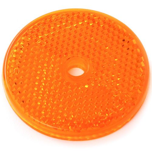 Grote 41013 Amber Reflector - 2in Round Center Hole Mount Yellow