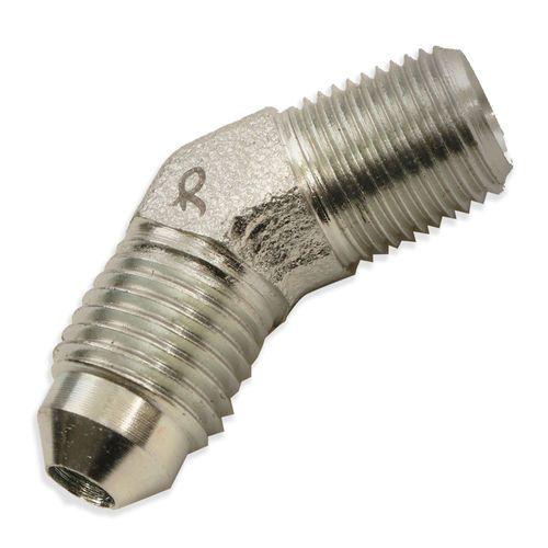 45 Degree Fitting 1/4 Male JIC x 1/8 Male Pipe - Male Elbow - Steel