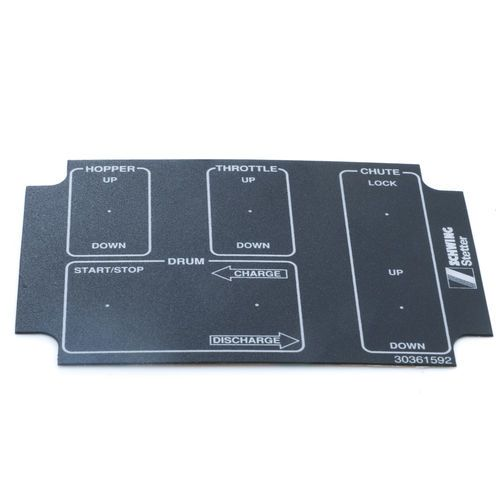 Schwing 30361592 Mixer Cable Remote Box Decal